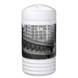 Chicago, IL - DuSable Bridge built in 1920  - BW Igloo Beverage Dispenser