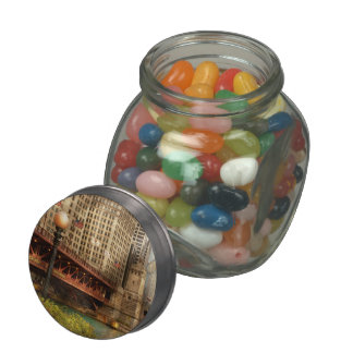 Chicago, IL - DuSable Bridge built in 1920 Jelly Belly Candy Jars