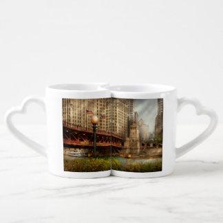 Chicago, IL - DuSable Bridge built in 1920 Coffee Mug Set