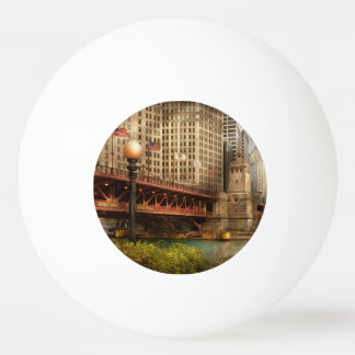 Chicago, IL - DuSable Bridge built in 1920 Ping-Pong Ball