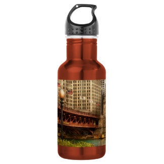 Chicago, IL - DuSable Bridge built in 1920 18oz Water Bottle