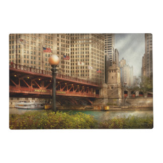 Chicago, IL - DuSable Bridge built in 1920 Placemat
