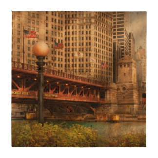 Chicago, IL - DuSable Bridge built in 1920 Beverage Coaster