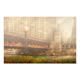 Chicago, IL - DuSable Bridge built in 1920 Customized Stationery
