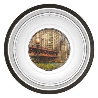 Chicago, IL - DuSable Bridge built in 1920 Pet Bowl