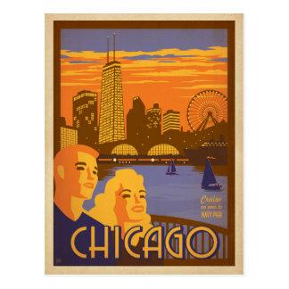 Chicago, IL - embarcadero de la marina de guerra Tarjeta Postal