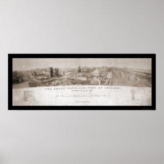 Chicago, IL enciende la foto 1871 Posters