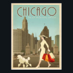 "Chicago, IL - Enjoy Michigan Avenue Postcard<br><div class=""desc"">Anderson Design Group is an award-winning illustration and design firm in Nashville,  Tennessee. Founder Joel Anderson directs a team of talented artists to create original poster art that looks like classic vintage advertising prints from the 1920s to the 1960s.</div>"