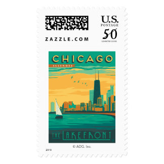 Chicago, IL - Enjoy the Lakefront Postage