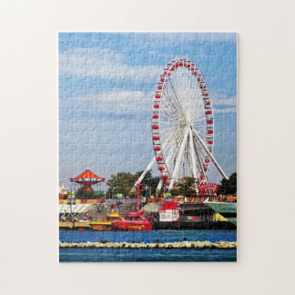 Chicago IL - Ferris Wheel at Navy Pier Jigsaw Puzzle