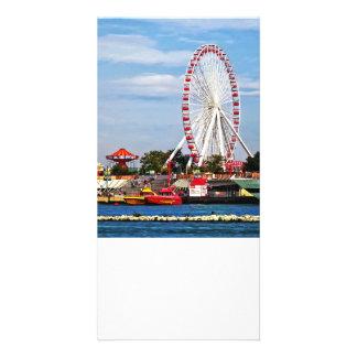 Chicago IL - Ferris Wheel at Navy Pier Photo Card