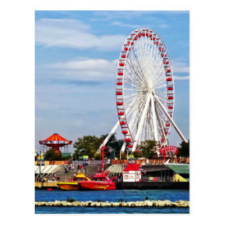 Chicago IL - Ferris Wheel at Navy Pier Postcard