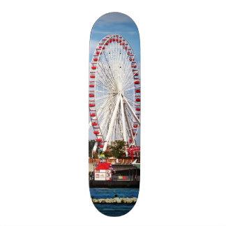 Chicago IL - Ferris Wheel at Navy Pier Skateboard