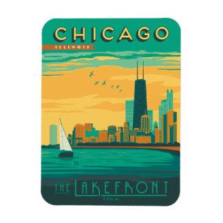 Chicago, IL - goce de la orilla del lago Imanes Flexibles