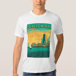 Chicago, IL - goce de la orilla del lago Playeras