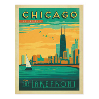 Chicago, IL - goce de la orilla del lago Postales