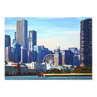 Chicago IL - Horizonte de Chicago y embarcadero de