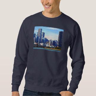 Chicago IL - Horizonte de Chicago y embarcadero de Sudadera