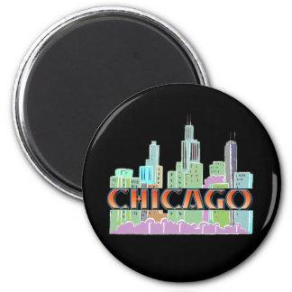 Chicago IL Imán Redondo 5 Cm