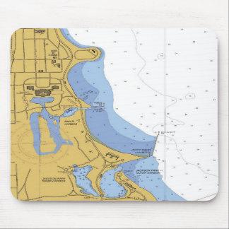 Chicago IL Jackson Park 59th Harbor Chart Mousepad