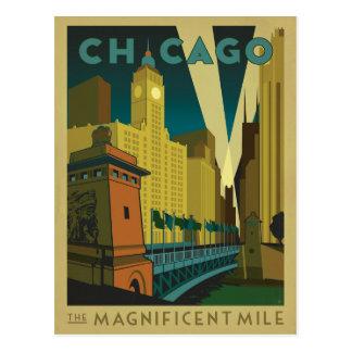 Chicago, IL - la milla magnífica Postal