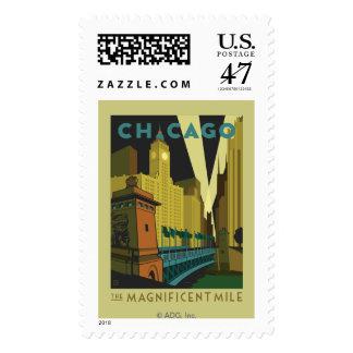 Chicago, IL - la milla magnífica Timbres Postales