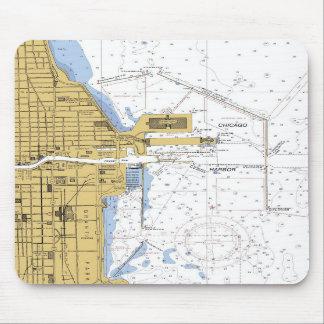 Chicago IL Monroe Harbor Nautical Chart mousepad