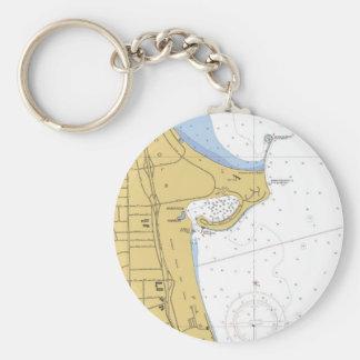 Chicago, IL Montrose  Harbor Chart Keychain