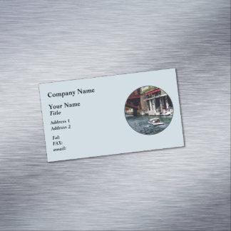 Chicago IL - Motorboat Near Dearborn Street Bridge Business Card Magnet
