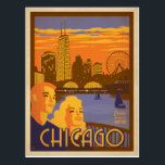 "Chicago, IL - Navy Pier Postcard<br><div class=""desc"">Anderson Design Group is an award-winning illustration and design firm in Nashville,  Tennessee. Founder Joel Anderson directs a team of talented artists to create original poster art that looks like classic vintage advertising prints from the 1920s to the 1960s.</div>"