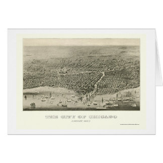 Chicago, IL Panoramic Map - 1860 Card
