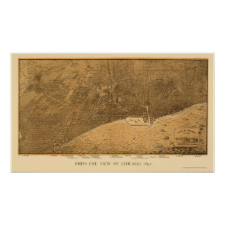 Chicago IL Panoramic Map - 1892a Posters