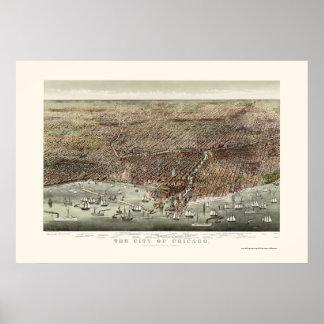 Chicago IL Panoramic Map - 1892b Print