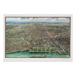 Chicago, IL Panoramic Map - 1916 Posters