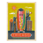 Chicago, IL - perrito caliente Tarjetas Postales