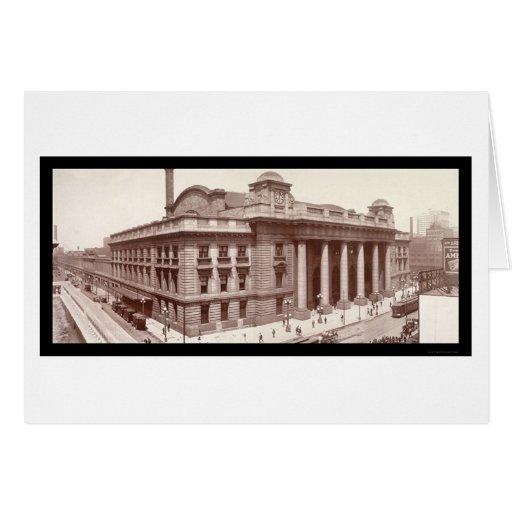 Chicago, IL Railroad Photo 1912 Greeting Card