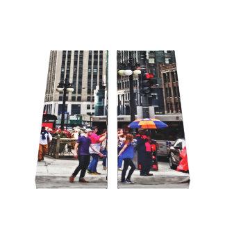 Chicago IL - Rainy Day on E Wacker Drive Canvas Print
