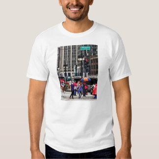 Chicago IL - Rainy Day on E Wacker Drive T Shirt