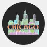 Chicago IL Round Sticker