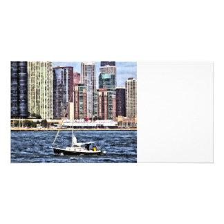Chicago IL - Sailing on Lake Michigan Card