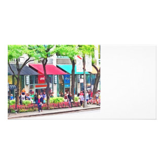 Chicago IL - Shopping Along Michigan Avenue Card