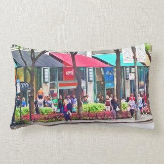 Chicago IL - Shopping Along Michigan Avenue Lumbar Pillow