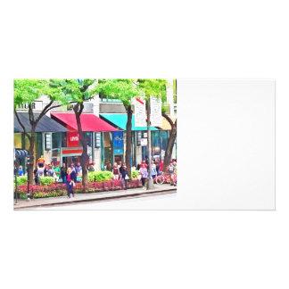 Chicago IL - Shopping Along Michigan Avenue Photo Card Template