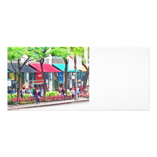 Chicago IL - Shopping Along Michigan Avenue Rack Card
