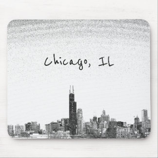 Chicago, IL skyline Mouse Pad