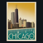 "Chicago, IL - Skyline Postcard<br><div class=""desc"">Anderson Design Group is an award-winning illustration and design firm in Nashville,  Tennessee. Founder Joel Anderson directs a team of talented artists to create original poster art that looks like classic vintage advertising prints from the 1920s to the 1960s.</div>"