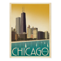 Chicago, IL - Skyline Postcard