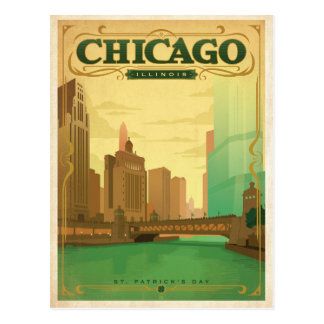 Chicago, IL - St. Patrick's Day Postcard