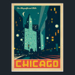"Chicago, IL - The Magnificent Mile 2 Postcard<br><div class=""desc"">Anderson Design Group is an award-winning illustration and design firm in Nashville,  Tennessee. Founder Joel Anderson directs a team of talented artists to create original poster art that looks like classic vintage advertising prints from the 1920s to the 1960s.</div>"