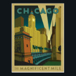"Chicago, IL - The Magnificent Mile Postcard<br><div class=""desc"">Anderson Design Group is an award-winning illustration and design firm in Nashville,  Tennessee. Founder Joel Anderson directs a team of talented artists to create original poster art that looks like classic vintage advertising prints from the 1920s to the 1960s.</div>"